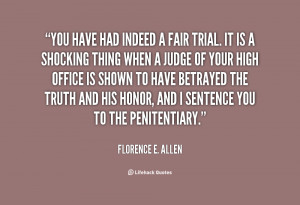 Quotes About Fair Trials