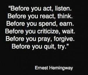 Best Quotes of Famous People - Best Quotes of Ernest Hamingway; Before ...