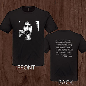 FRANK-ZAPPA-quote-T-Shirt-rock-jazz-legend-Captain-Beefhead-S-M-L-XL ...