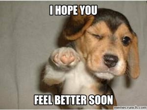 Feel Better Puppy