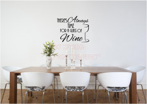 ... of WINE kitchen vinyl wall decals quotes sayings lettering letters art