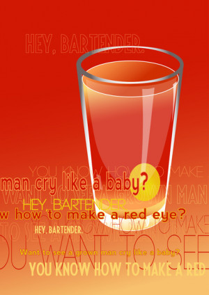 Movie Drink Quotes - Cocktail Art Print