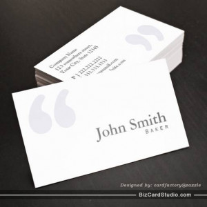 Plain Simple Quotes Baker Business Card