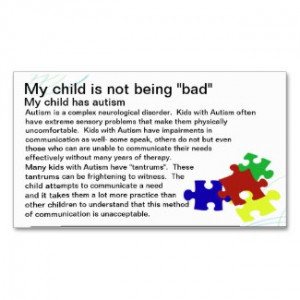 autism awareness card by sidther see more autism business cards