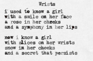 cuts poetry wrists
