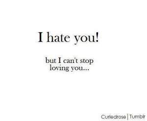 hate you, love, quote, textography