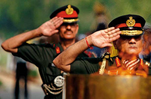 Army : When a soldier salutes his superiors, his right hand goes up on ...