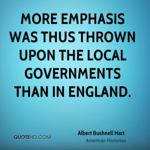 More emphasis was thus thrown upon the local governments than in