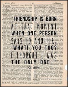 ... friendship literary quote typography print friends bff friendship