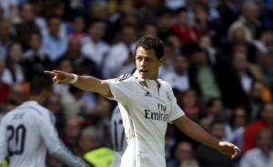 Real Madrid's Javier ''Chicharito'' Hernandez celebrates after scoring ...