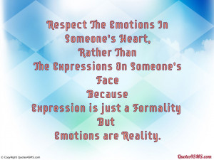 Expression is just a Formality But...