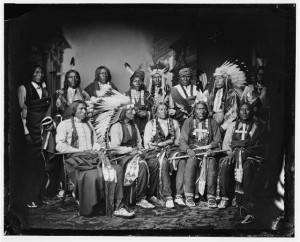 Red Cloud and other Souix created between 1865 and 1880