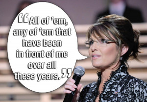 SARAH PALIN WHEN ASKED WHAT NEWS PUBLICATIONS SHE READS. Yes, but are ...