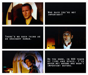 The most important thing to learn from Doctor Who