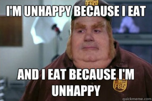 Fat Bastard awkward moment - im unhappy because i eat and i eat ...