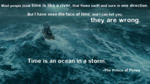 Time is an ocean in a storm.