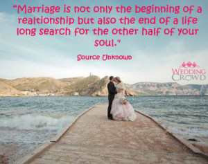 Marriage Is Not Only The Beginning Of A Relationship But Also The End ...