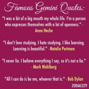Famous Gemini Quotes