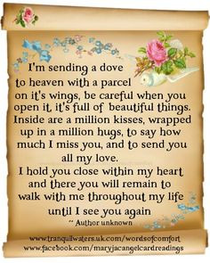 In memory of my sister Linda who went to heaven 9 years ago tomorrow ...