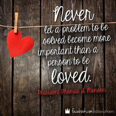 Serve + Love #lds #quotes #mormon #monson More