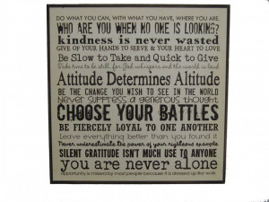 Inspirational Quotes Plaque