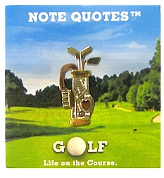 notebook with golf quotes great gift classy notepad has golf quotes on ...