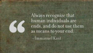 One of Kant's famous quotes