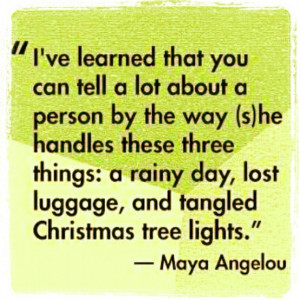 ... things: a rainy day, lost luggage, and tangled christmas tree lights