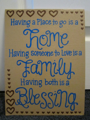 Hand painted canvas - quote: