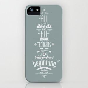 Albert Camus quotes iPhone & iPod Case