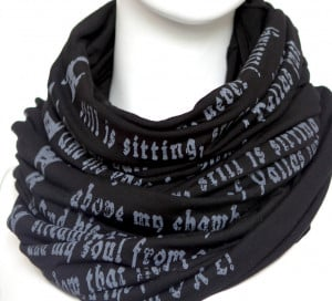 Home / SCARVES / The Raven quote by Edgar Poe Black
