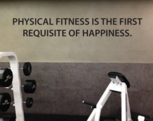 Physical Fitness Motivational Quote Wall Decal, Physical Fitness is ...