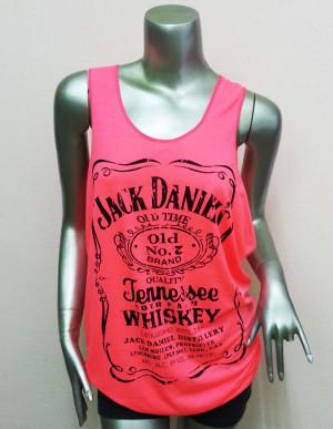 Jack Daniels Tennessee Whiskey T-Shirt Women shirt . $13.00, via Etsy ...