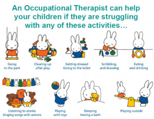 ... occupational therapists made a poster about ot using miffy