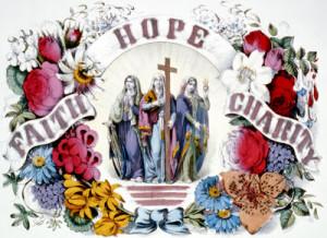 Faith Hope Charity Currier & Ives