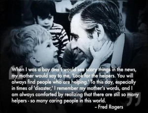 Fred Rogers quote about caring people