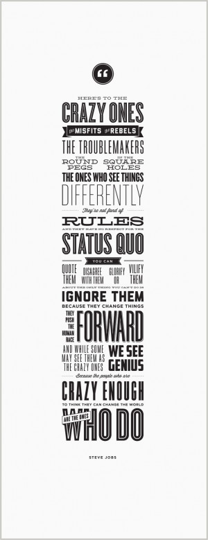 Love this Steve Jobs quote