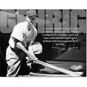 Title: Lou Gehrig Luckiest Man on Earth Baseball Retro Sports Vintage ...