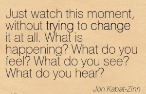 ... What do you see! What do you Hear - Jon Kabat - Zinn - Awareness Quote