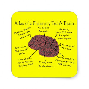 hilarious pharmacy tech sayings gifts atlas of a phamacy tech s brain ...