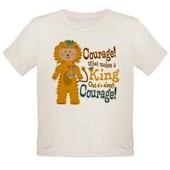 Wizard of Oz Cowardly Lion Courage Quote Organic Toddler T-Shirt $21 ...
