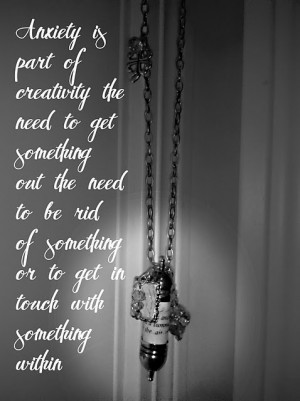 . most personal quote ever.. love it. Probably the best anxiety quote ...