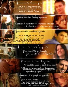 ... ,lucas scott,hilarie burton,love,quotes,words,quote,photography) More
