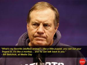 ew England Patriots head coach Bill Belichick speaks during media day ...
