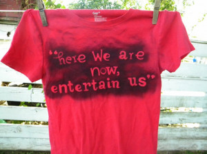 Nirvana Song Lyrics Quote Here We Are Now Entertain Us Grunge Music ...