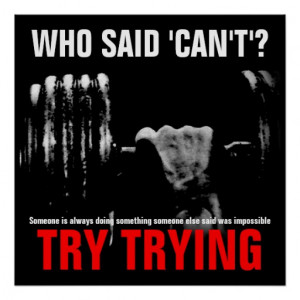 Bodybuilding Fitness Quote Success Poster Print