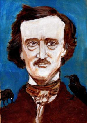 Caricatura Edgar Allan Poe - Literatura Corrosiva