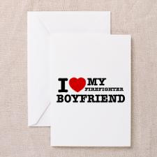 love my Firefighter Boyfriend Greeting Cards (Pk for