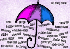 Bisexual umbrella - version 2 by Drynwhyl
