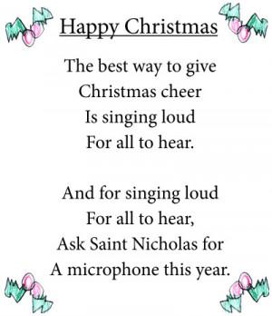 Happy Christmas poem & art by 8 yr old Gabby